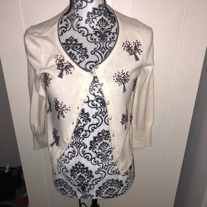 Anthropologie Field Flower Cardigan size S